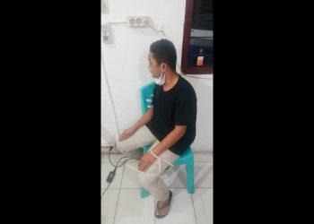 Pelaku Farasian Dolyfer Manurung sudah diamankan di Mako Polres Siantar